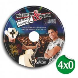 Adesivo Adesivo de Papel 11,5x11,5 cm (CD) 4x0 sem verniz Meio Corte / Corte Especial