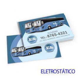 Adesivo Adesivo Eletrostático 17,2x10,4 cm 4x0 sem verniz Refile