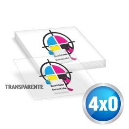 Adesivo Adesivo Vinil Transparente 19x13 cm 4x0 sem verniz Meio Corte / Corte Especial