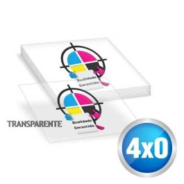 Adesivo Adesivo Vinil Transparente 7x7 cm 4x0 sem verniz Meio Corte / Corte Especial