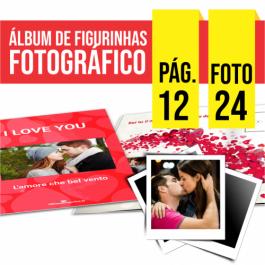 Álbum de Figurinhas | 21x21cm | 12 Pag. | 24 Fotos Couchê Matte 170g/m² 21x21cm