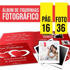 Álbum de Figurinhas | 21x21cm | 16 Pag. | 36 Fotos Couchê Matte 170g/m² 21x21 4x4