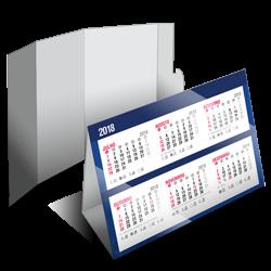 Calendário de Mesa | 4/0 | UV 1/0 Cartão Starlux 250g/m² 25x18 : 4x0 UV 1/0
