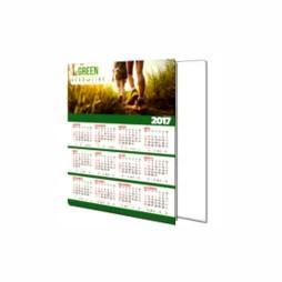 Calendário de Parede | 25x18cm | 4/0 | UV 1/0 Cartão Starlux 250g/m² 25x18 : 4x0 UV 1/0