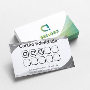 Cartão de visita Couchê 250g 9x5cm 4x1 Sem verniz fosco do papel Corte Reto