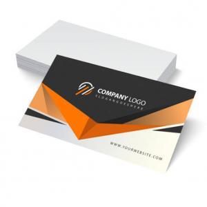 Cartão de visita Couchê 250g 9x5cm 4x0 Verniz Total Brilho Corte Reto