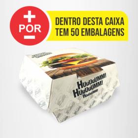 Hamburguer H1 | Branca | 50 Unid. Personalizado