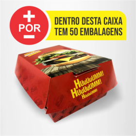 Hamburguer H1 | Vermelha | 50 Unid. Personalizado
