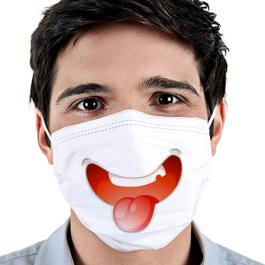 Máscara de Tecido Personalizada | Adulto Tecido Helanca 19x17 4x0 cores