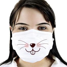 Máscara de Tecido Personalizada | Infantil Tecido Helanca 17x14 4x0 cores
