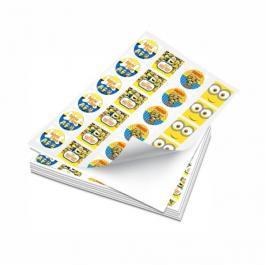 Papel Adesivo Brilho SRA3 Com Corte Contorno Adesivo Brilho 32x45.70 4x0 cores